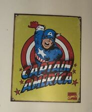 RETRO Marvel Comics Captain America Metal Poster/Sign 12.5 inches by 16 inches