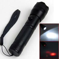 2 in1 Portable 7 LED Red Laser Flashlight Torch Dual Purpose Light Alloy Lamp