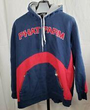 Vintage Phat Farm Hoodie Puffy Varsity Lettering,very thick fleece Sz XXL