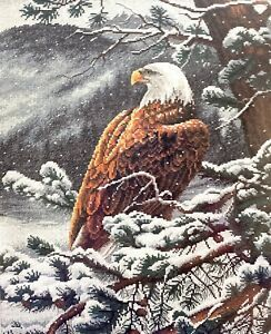 """DIMENSIONS Gold Collection """"Eagle's Eye View"""" Animal Counted Cross Stitch Kit"""