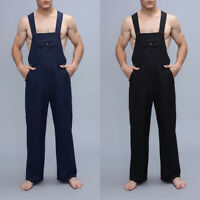 INCERUN Mens Casual Dungarees Jumpsuit Overalls Trousers Playsuit Pants Trousers