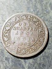 1862 British India 1/4 Anna KM# 486 Copper Queen Victoria Coin