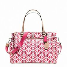 COACH F30541 PEYTON Multifunction Diaper Bag In Dream C Pink/White/Silver NWT