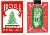 Santa Back Red Deck Bicycle Playing Cards Poker Size USPCC Limited Custom New