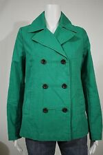 Old Navy Misses SMALL Green Double Breasted Cotton Peacoat Trench Coat Jacket