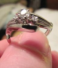 Jabel Ladies Dia 18Kt WG Ring-Center .20Ct Rd W 2 Smaller Outer Dia-.25CTW-Sz8.5