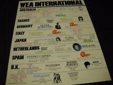ROSE LAURENS Akina Nakamori SHALAMAR Peter Schilling WAH 1983 Promo Poster Ad