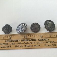 New listing Vintage Pewter Buttons Have A Mans Head,Sailing Ship,Rabbit, Estate Find
