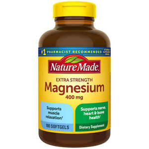 Nature Made High Potency Magnesium 400 mg 180 Liquid Softgels Exp 02/2023