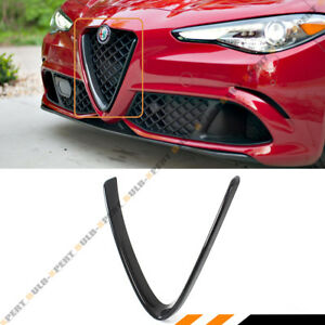FOR 17-21 ALFA ROMEO GIULIA QUADRIFOGLIO CARBON FIBER V SHAPE GRILLE TRIM COVER
