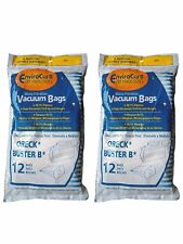 24 Oreck 815, PKBB12DW Allergy Portable Canister Vacuum Bags Model Buster B
