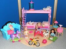 AWESOME LOT OF BARBIE KIDS ROOM WITH KELLY & FRIENDS FURNITURE & ACCESSORIES!