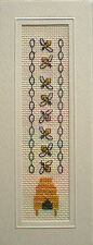 Honey Bee Counted Cross Stitch Bookmark Kit