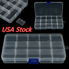 Plastic 15 Compartments Fishing Lure Bait Hook Tackle Storage Box Case Container