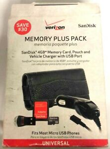 Verizon Memory Plus Pack with memory Card & Vehicle Charger