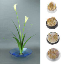 Round Ikebana Kenzan Flower Frog With Rubber Gasket Art Fixed Arranging Tools