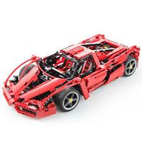 Blocksteine Rennwagen F1 Rot Sportwagen Auto Modell Geschenke Kind 1359pcs