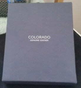 Colorado Brown Genuine Leather, Tabbed, RFID Protected Wallet : Never Used