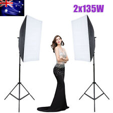 Photography Studio Soft Box Light Video Softbox Continuous Lighting Stand Kit AU