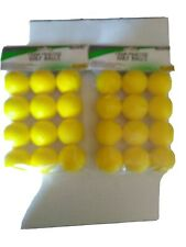 Pride Sports practice yellow foam golf balls 2 packages of 12- 24 in all.