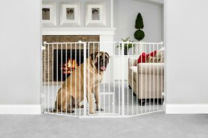 "Baby Dog Safety Gate Guard 38"" Walk-Thru Adjustable Durable Extra Tall Pet Door"