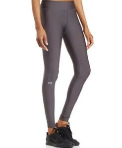 * Under Armour Women's HeatGear Armour Color Block Legging, Metallic Silver, XL