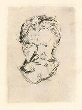 "Edvard Munch original etching ""Head of a Man"""