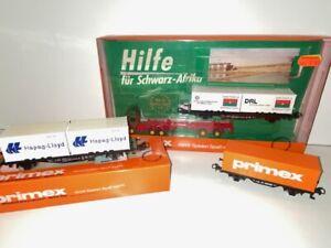 Primex H0 4541 4552 4573 Containerwagen LKW unbespielt Kupplung wie Märklin