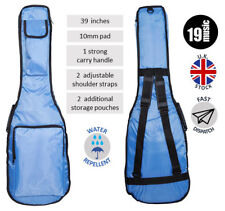 Light Blue 39 Inches 10 mm Pad Padded Deluxe Electric Guitar Carry Gig Bag Case