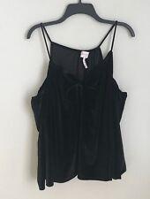 New Laundry by Shelli Segal Medium Black Velvet Cold Shoulder Blouse