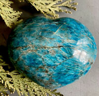 426g HERE'S MY HEART!  XL BLUE/GREEN APATITE CRYSTAL HEALING HEART Reiki  NORWAY