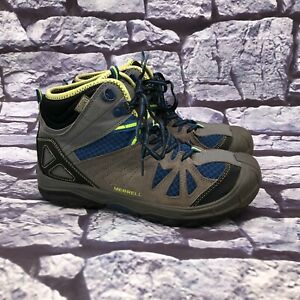 Merrell Capra Mid Waterproof Boys Youth Waterproof Hiking Boots Youth Size 5.5M