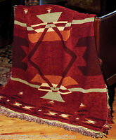 "THROWS - ""OLD SANTA FE"" TAPESTRY THROW BLANKET - SOUTHWEST - WESTERN DECOR"