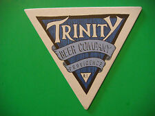Beer Brewery Coaster ~ TRINITY Brewhouse & Restaurant ~ Providence, RHODE ISLAND