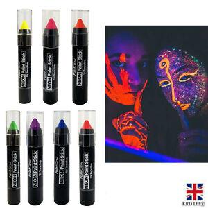 Neon Paint Stick UV Reactive Face Body Glow Paint Fancy Dress Party Club UK