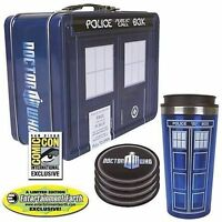 Doctor Who TARDIS Tin Tote Gift Set - SDCC Exclusive NEW!