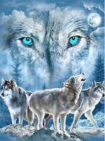 Full drill Diamond Painting Animal Wolf Snow Fashion Handicraft Rhinestone 6178X