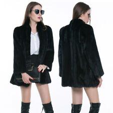 HK- Fashion Lady Winter Warm Faux Fur Soft Long Sleeve Coat Jacket Outerwear Pop