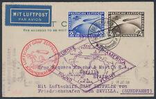 Zeppelin Südamerikafahrt 1930 Südamerikafahrt-Satzfrankatur Sevilla (S15369)