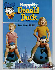 1972 PAPER AD Donald Duck Walt Disney Toy Play Hoppity Bounce Toy Sun Rubber