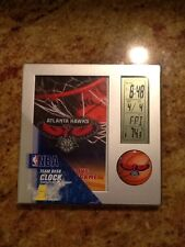 Atlanta Hawks Basketball NBA Digital Desk Clock calendar tempature Wincraft NEW