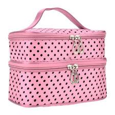 Large Polka Dot Makeup Bag Organizer Travel Cosmetic Box Cute Toiletry Bags Case