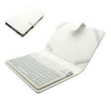 Universal Tasche Case mit Bluetooth Tastatur für 7 - 8 Zoll Tablet PC | Weiß
