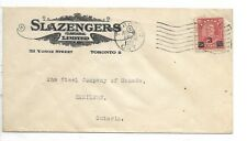 Advertising Cover SLAZENGERS (CANADA) LIMITED dated TORONTO, ONT / NOV 16 / 1932