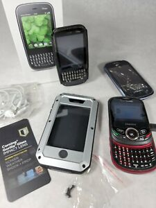 Cell Phone Lot of 3 Non-working Cell Phones w/ Aluminum iPhone 4/4s Case