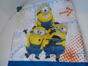 Despicable Me One In A Minion flat Sheet Size Twin White & Blue