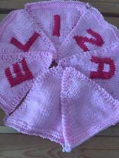 """Handmade Personnalisé Tricot Bunting """"Eliza"""" cadeau pour bébé"""