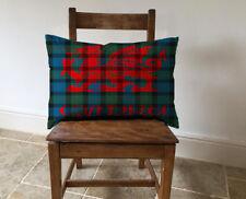 Welsh Dragon Cymru Tartan - Long Cushion Covers Pillow Cases Home Inner