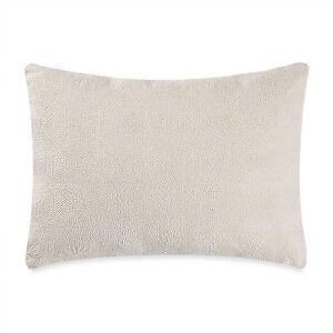 "VERA WANG Home FRETWORK Box Breakfast Throw Pillow, Cream, 12"" x 16"", NEW"