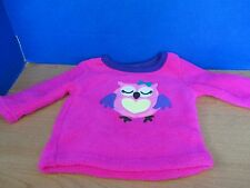 HEALTHTEX~Pink Long Sleeve Fleece with OWL SHIRT~Infant Baby Girls 12 Months